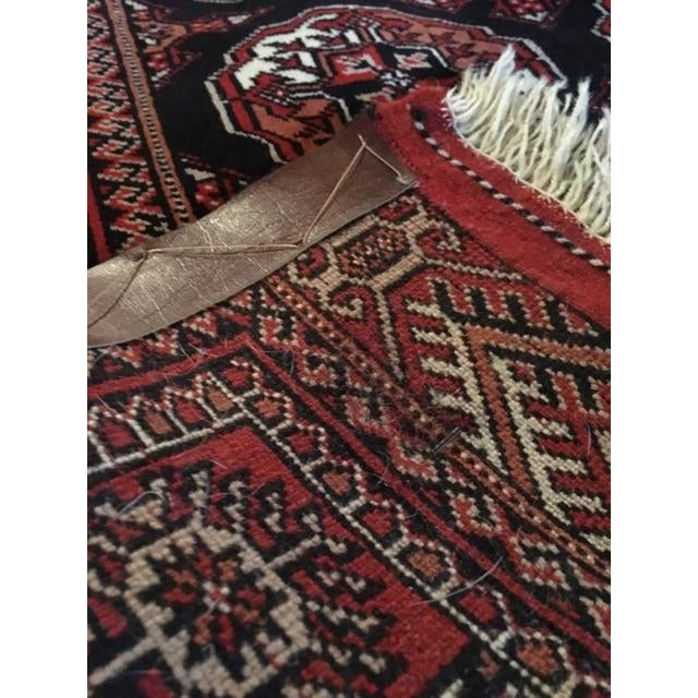 Semi-Antique Persian Tekke Turkoman Rug - 5' X 6'8 - Image 6 of 6