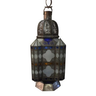 Moroccan Color Glass Lantern