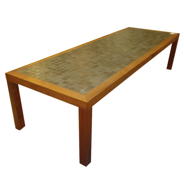 Mid-Century Scan Design Teak/Tile Coffee Table