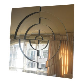 Modernistic Geometric & Mirrored Wall Hanging