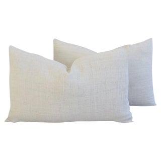 Custom Tailored Homespun Belgian Linen Feather/Down Pillows - Pair