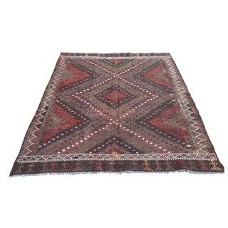 Vintage Turkish Kilim Rug - 5′7″ × 7′2″