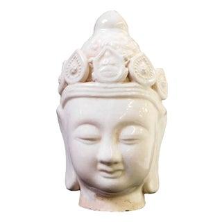 Chinese Ceramic Clay Kwan Yin Head Figure