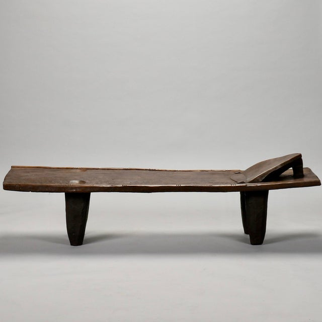 Ivory Coast Dark Wood Senufo Bench - Image 11 of 11