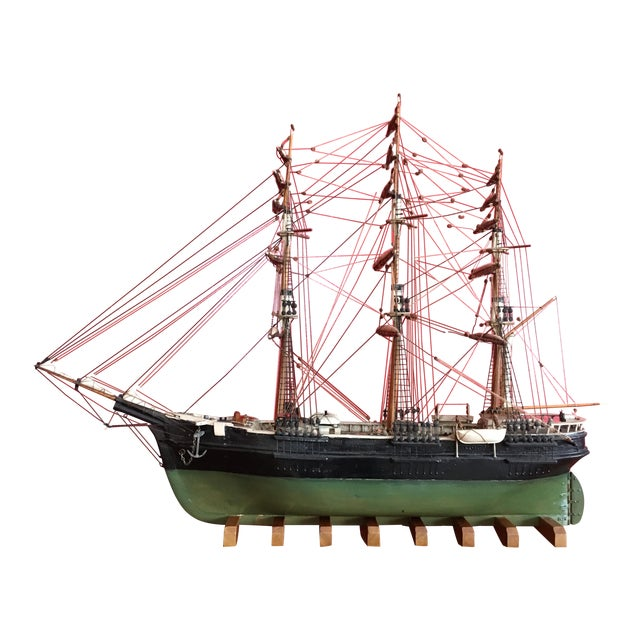 1940s Mid-Century Ship Model - Image 1 of 8
