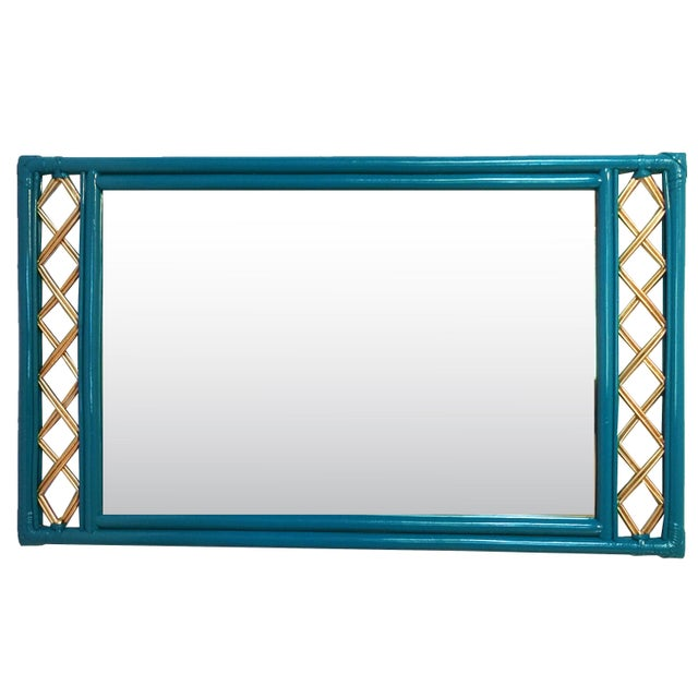 Vintage Ficks Reed Rattan Mirror - Image 2 of 7