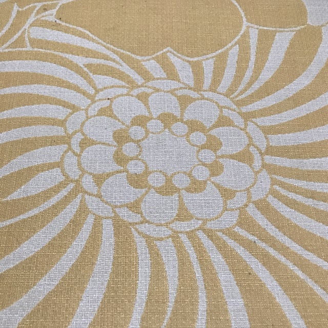Yellow Floral Floor Cushion - Image 5 of 6