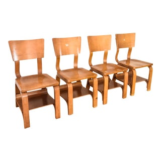 Thonet Mid-Century Child-Sized Plywood Chairs - Set of 4