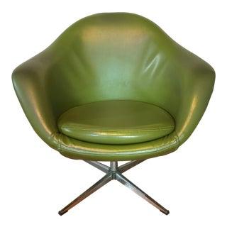Mid-Century Modern Avocado Green Overman Pod Chair
