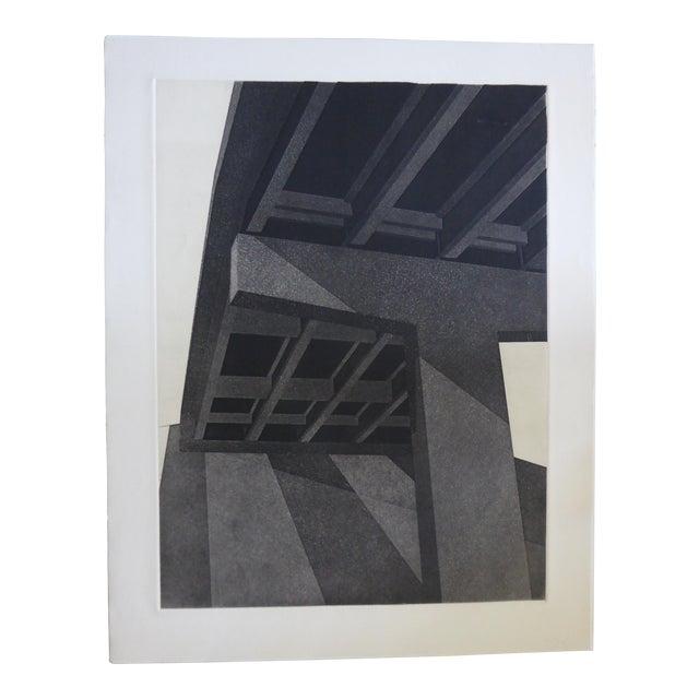 """Original Modern Industrial Graphic Silkscreen, """"Underpass #1"""" - Image 1 of 5"""