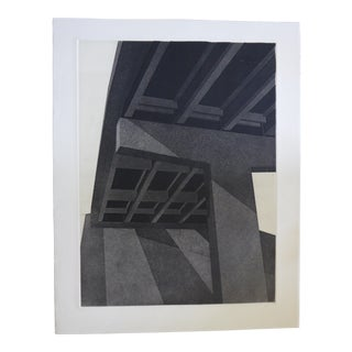 "Original Modern Industrial Graphic Silkscreen, ""Underpass #1"""