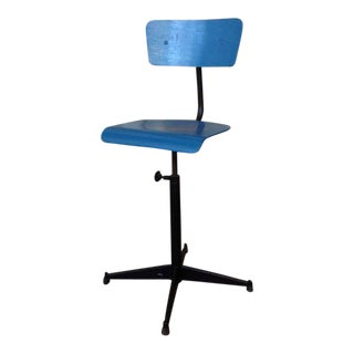 American Industrial Stool with Back