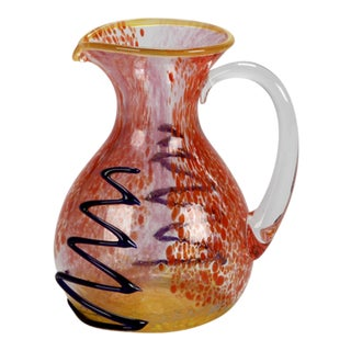 Mario Badioli Murano Glass Pitcher