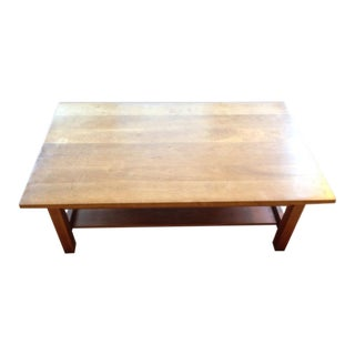 Contemporary Two-Tier Carved Wood Coffee Table