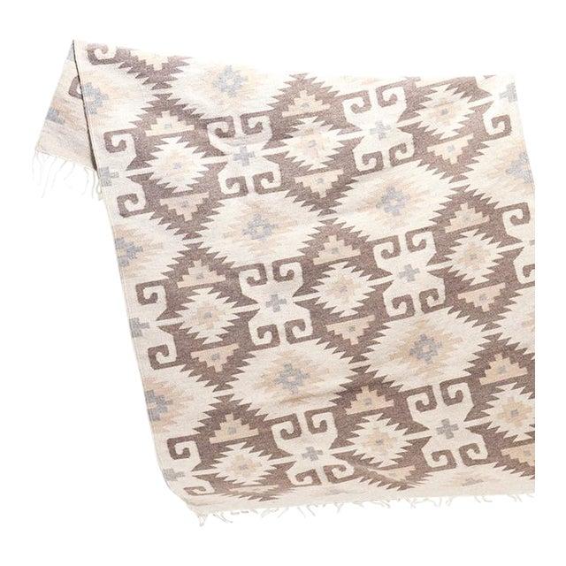 Hand woven Ecru Oaxaca Wool Rug - Image 1 of 4