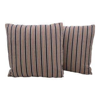 Vintage Ticking Pillows - A Pair