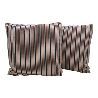 Vintage Ticking Pillows - A Pair