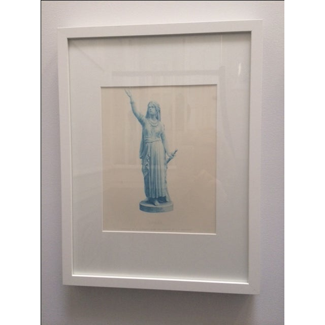 """Image of Antique Collectors """"Judith"""" Statue Engraving"""