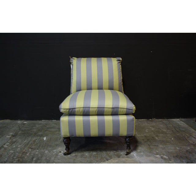 Image of Mitchell Gold Zondra Slipper Chairs Stripe - Pair