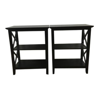 Contemporary Two-Tier End Tables - A Pair