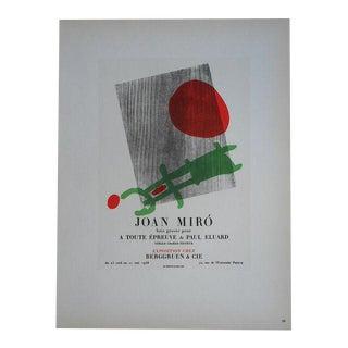Miro Mid 20th C. Modern Lithograph
