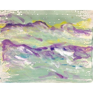 """Violet Wave"" Handmade Monotype Ink on Paper, 2016"