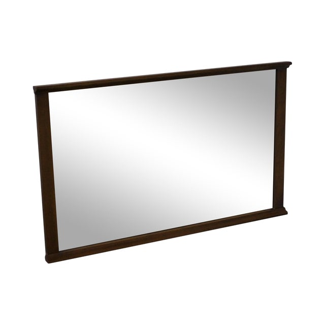 Mid-Century Modern Walnut Rectangular Wall Mirror - Image 1 of 10