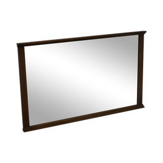 Mid-Century Modern Walnut Rectangular Wall Mirror