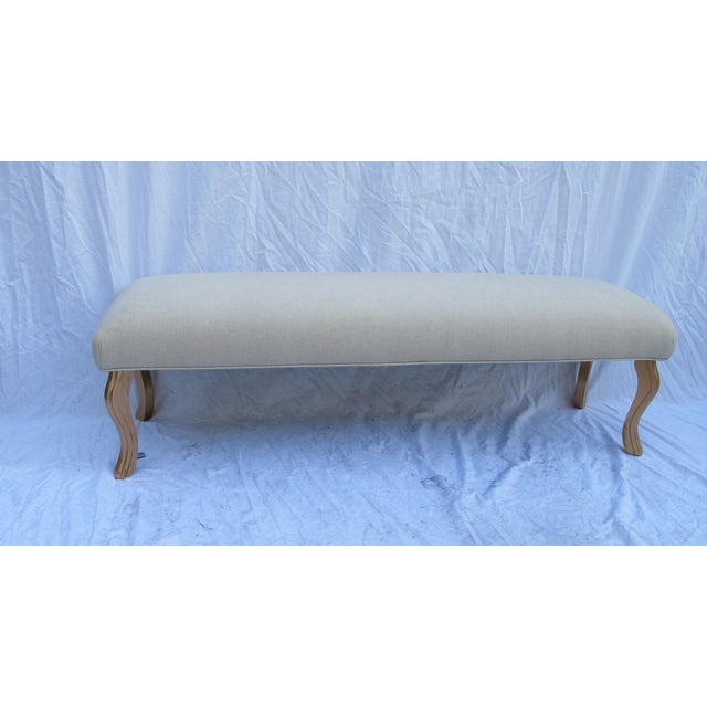 Image of Vintage 1960s Water Fall Legs Gold Leaf Bench
