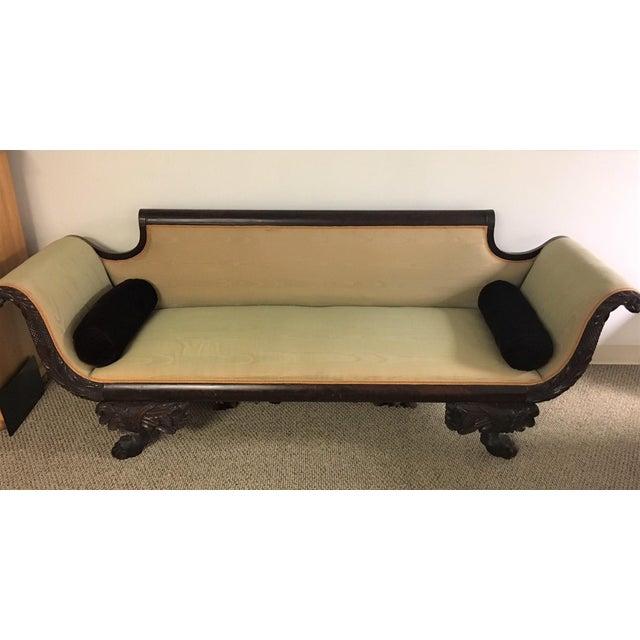 C. 1860s Duncan Phyfe Style Mahogany Empire Sofa - Image 2 of 10
