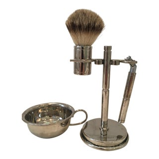Penhaligon's Polished Nickel Shaving Stand With Soap Dish