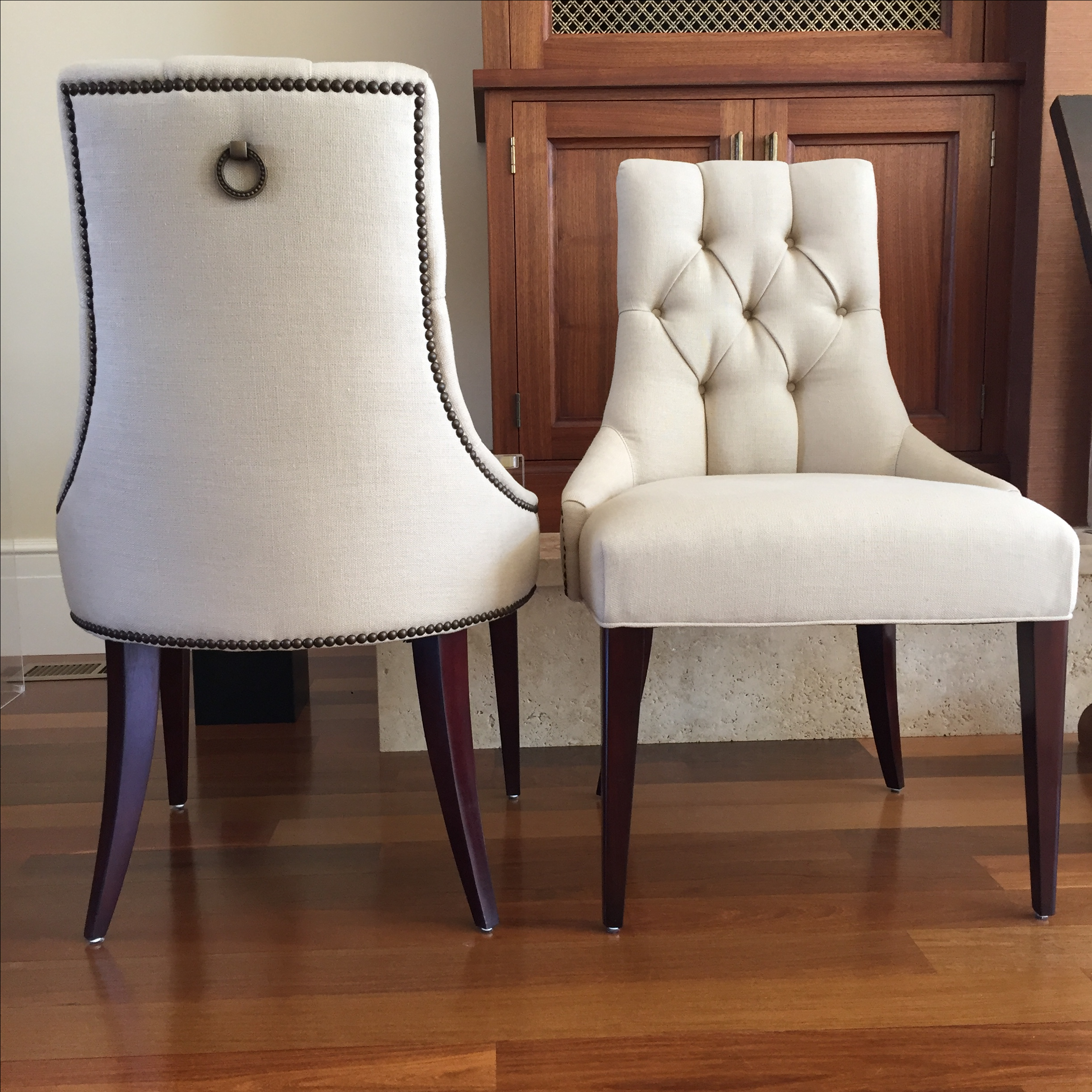 Thomas Pheasant Baker Dining Chairs a Pair
