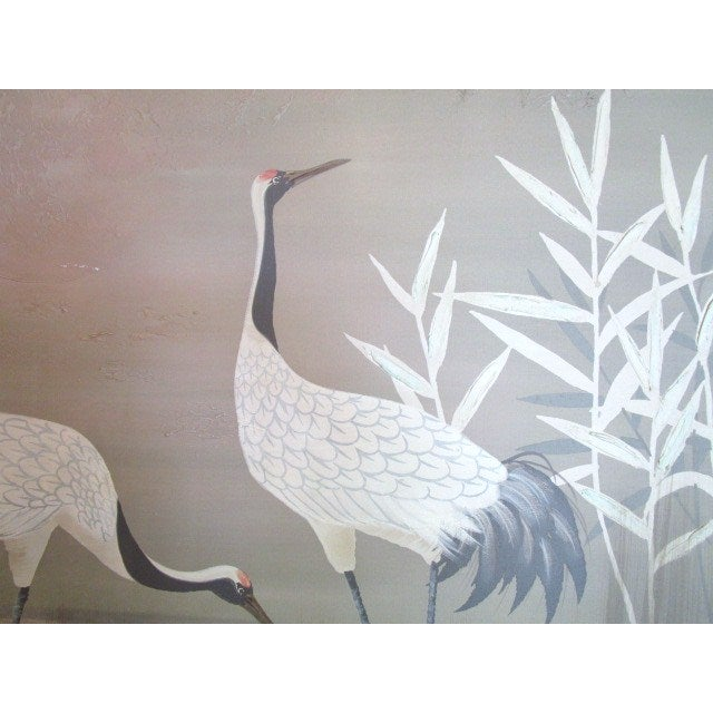 "Pastel ""2 Cranes"" Painting - Image 4 of 6"