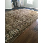"""Image of Handknotted Rust & Teal Wool Area Rug- 10' x 17'8"""""""