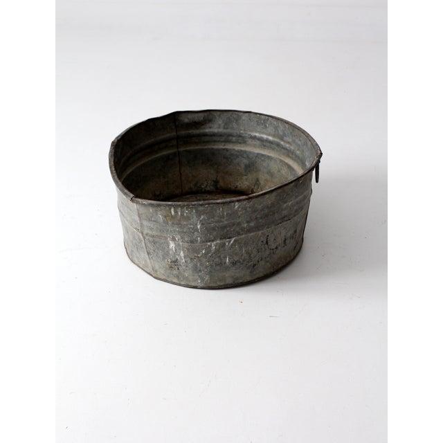 Image of Vintage Galvanized Tub Basin