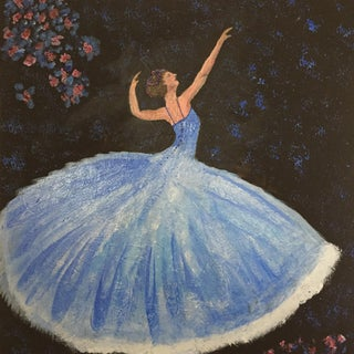 'Ballerina of the Stars' Mixed Media Art