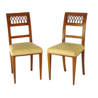 1820s Italian Neoclassical Side Chairs - A Pair