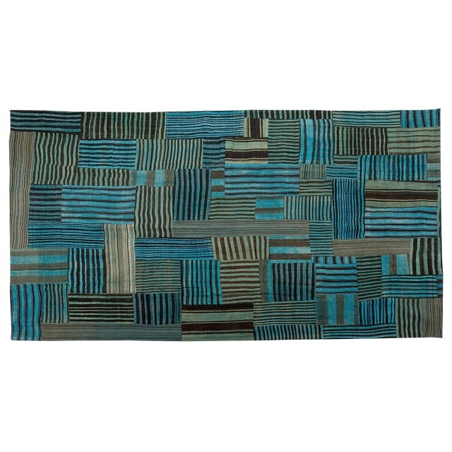 Image of Sarreid LTD Patchwork Double Sided Rug - 8' x 12'