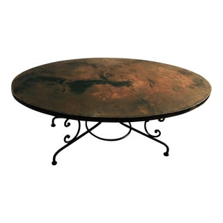 Arhaus Hammered Copper Oval Dining Table