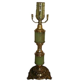 Gustavian Style Green Table Lamp