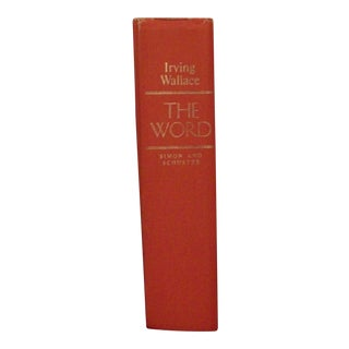"1972 Irving Wallace ""The Word"" Signed"