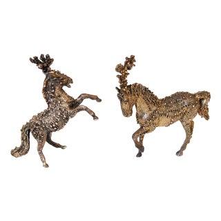 Sasha Brastoff Circus Horse Miniatures - Pair