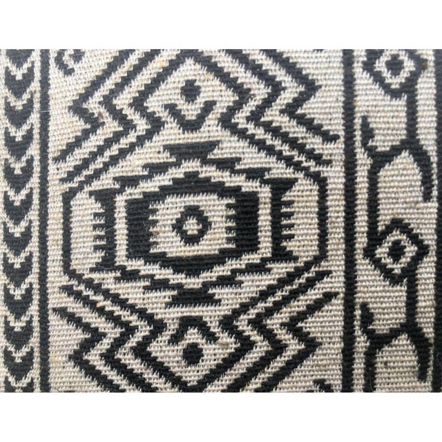 Black & White Tribal Textile Pillow - Image 4 of 4