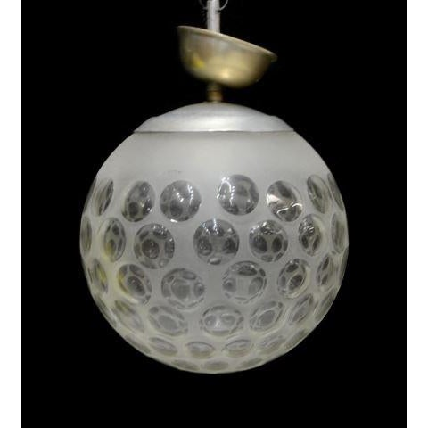 Modern Frosted Globular Italian Chandelier - Image 2 of 4