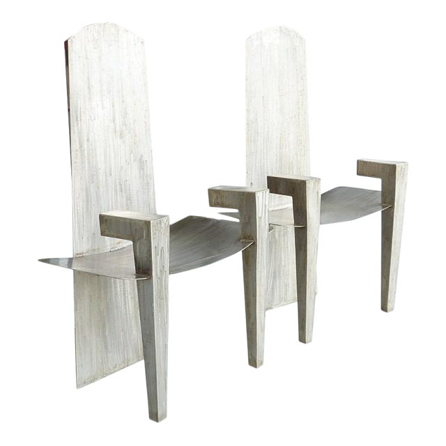 Image of Stainless Steel Chairs, David Smith Style