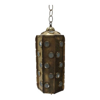 Brass Hanging Lantern Light Fixture