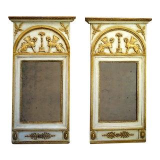 Pair of Neoclassical Mirrors with Original Mercury Glass (#23-27)