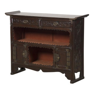 Antique Chinese Scholar's Cabinet, Original Lacquered Finish, Kuang Hsu Period, circa 1875