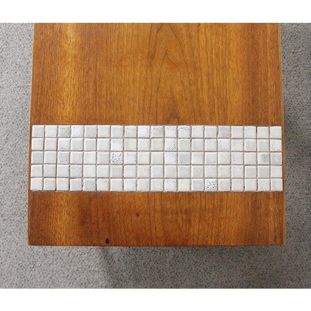Lane Mid-Century Tile & Wood End Table - Image 6 of 10