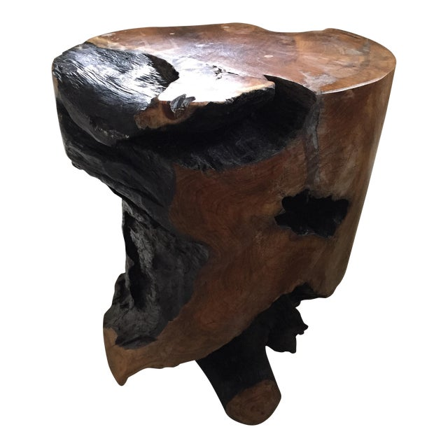 Root End Table: Teak Root Side Table